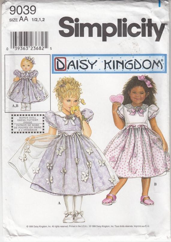 Simplicidad 9039 Daisy Unido niño y niño vestido delantal y 18 | Etsy