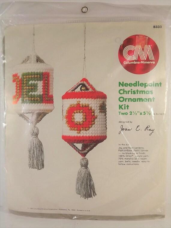 image 0 - CM Kit 8333 Needlepoint Christmas Ornaments Joy Noel Lanterns Etsy