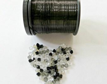 Wire & Crystal Starter Kit - Black/Grey plus bonus pattern