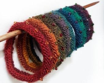 Crystal & Yarn Bangles Knitting Pattern