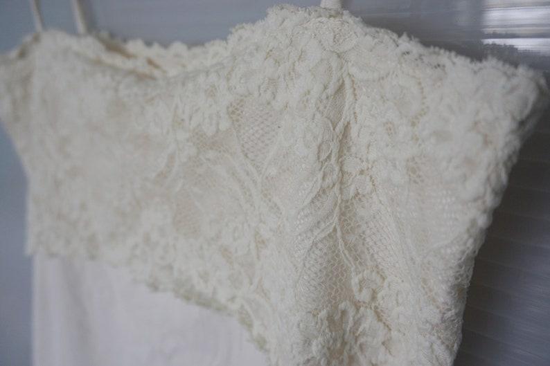 vintage 1990/'s stretch elastic blouse lingerie lace top