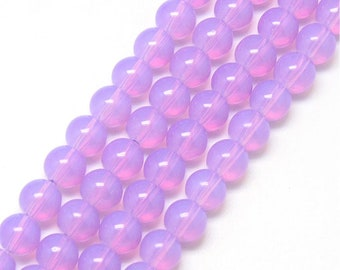 Purple Milky Glass Beads 6MM | Strand of 140 Beads