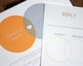 Venn Wedding Invitation (Sample Set)