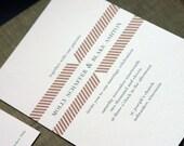 GATHERING Wedding Invitation (sample set)