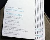 Dottie Wedding Invitation (SAMPLE SET)