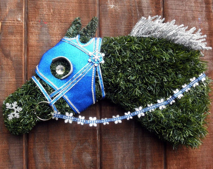 Racehorse Christmas Wreath Rollback Pricing