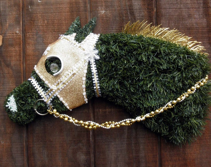 Race Horse Christmas Wreath Rollback Pricing