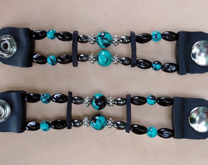Lady's Turquoise Bead Vest Extenders
