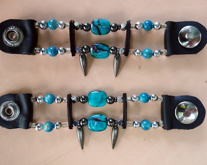 Women's Turquoise Bead Vest Extenders