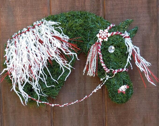 Arabian Horse Head Christmas Wreath