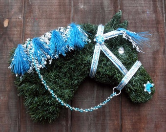 Quarter Horse Head Christmas Wreath Rollback pricing