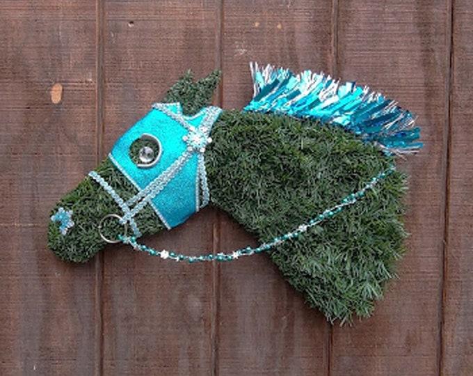Racehorse Christmas Wreath