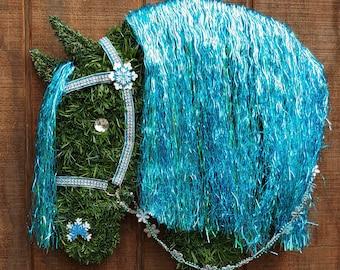 40% OFF 2018 Model Andalusian - Friesian Horse Head Christmas Wreath