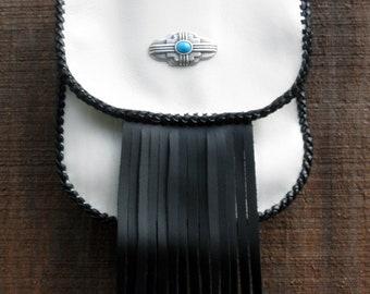 Leather Snap on Hip Bag with Shoulder Strap