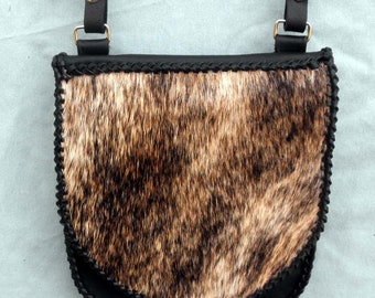 Leather with Hair On Flap Cross Body - Shoulder Bag