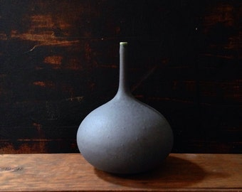MADE TO ORDER-  one perfect Slate matte rotund bottle vase by Sara Paloma