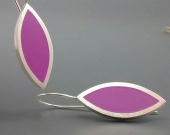 Super sexy Vibrant Violet Marquis Sterling SIlver Earrings