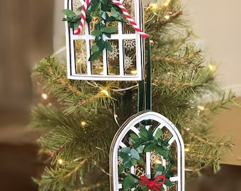 Christmas Ornament SVG File | Christmas Window Ornament | Snowflake Christmas Decoration | Holiday Farmhouse Tree Ornament | Farmhouse Style