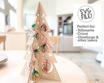 GLOWFORGE Basic 12 Days of Christmas Tree SVG | Laser Pattern | Catholic Advent Laser File | Nordic Folk Art Decor | Easy Fast Laser