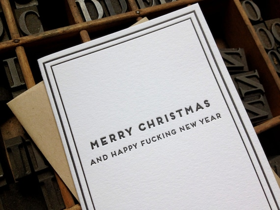 Merry Christmas, and happy f-ing new year: Cards for Dudes