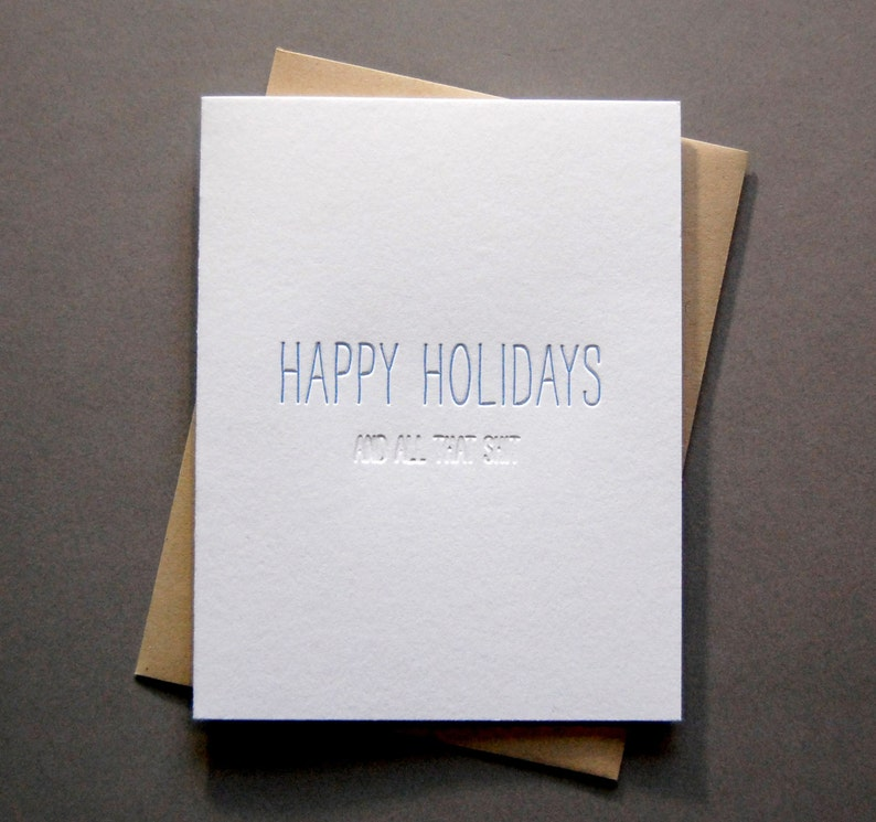 Hidden Message: Holiday Shit - Letterpress Card