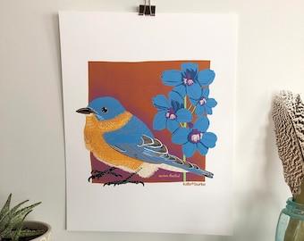 Eastern Bluebird 11x14 Digital Print