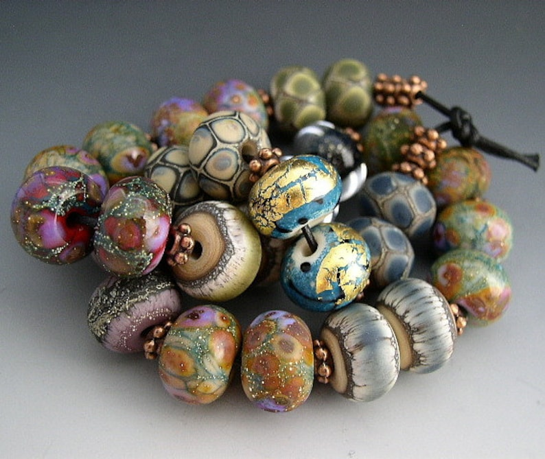 Naos Glass One of Each Bead Pair Mega Set 28 beads Made To image 0