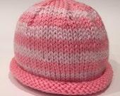 Pink + Light Pink 0-3m Kn...