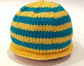 Yellow + Teal Newborn Kni...