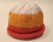 Candy Corn Baby Hat - Cus...