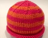 Pink + Orange Newborn Kni...