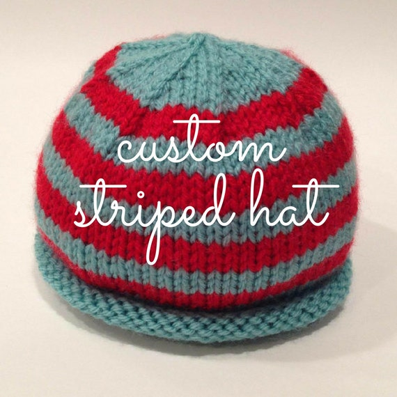 fbd8d67fa87 Striped Baby Hat Custom Knit