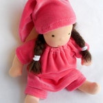 Custom Velour Doll clothing set, RESERVED FOR MAURA, Waldorf doll for 10 - 12 inch Steiner dolls Waldorf doll baby doll