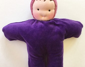 Purple baby, Waldorf doll, 12 inch doll,  gift for girl, handmade doll, gift for children