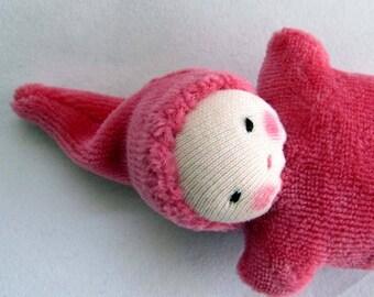 berry Baby, Waldorf  Doll, germandolls, pocket doll, Waldorf toy, Valentines day gift, for kids