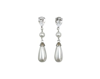 Kate Middleton Style 18K Rose Gold Pearl Drop Earrings Best Pearl Earrings Uncommon Goods Best Gifts For Her Eco Friendly Jewelry