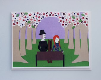 Anne of Green Gables - The White Way of Delight - print greeting card