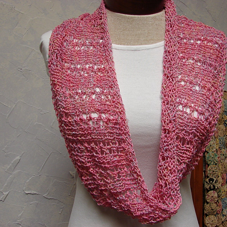 Pattern Lace Cowl knit in the round Lace Cowl Pattern   Etsy