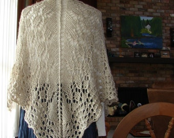 Pattern For Lace Shawl and Smaller Lace Shawl