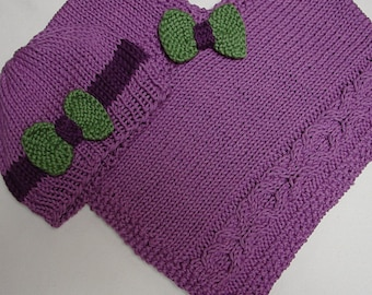 Pattern for Baby Poncho and Hat