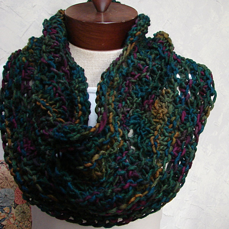 Pattern Super Quick Hand Knit Cowl Knit with bulky yarn A ...