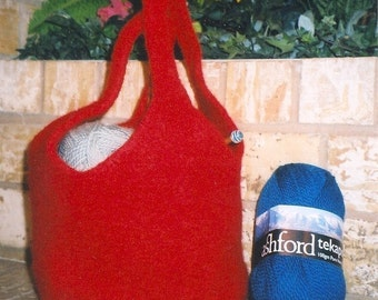 Pattern for Terrific Tote, Felted Bag