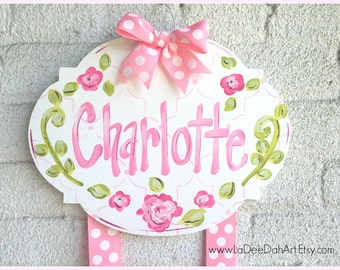 Hair Bow Holder, Hand-Painted Personalization, Monogram Bow Holder, Clip Holder, Hair Bow Organizer, Bow Holder, Personalized