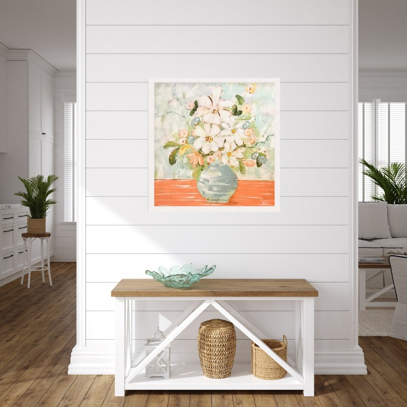 Fine Art Print Floral Painting Colorful Floral Painting image 0