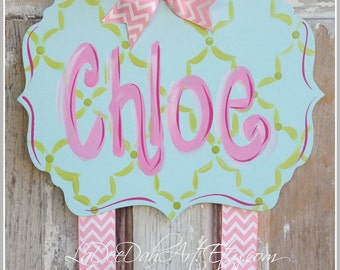 Hair Bow Holder, Hand-Painted Personalization, Monogram Bow Holder, Clip Holder, Bow Organizer, Bow Holder, Personalized Bow Holder, Girls