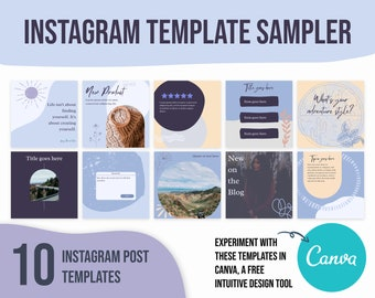canva template purple quote, instagram template purple, social media templates for boutique, social media templates for jewelry