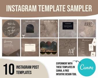 Instagram template astrology, social media templates candle, canva templates boho, instagram template tarot, astrology instagram template