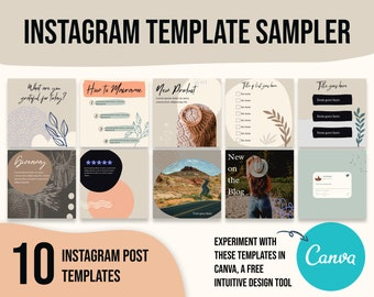 Instagram templates boho, canva template instagram boho, instagram template for travelers, social media templates for jewelry