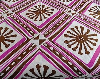 Vintage Polyester MOD Fabric - 1.44 yards