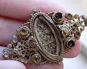 Vintage Victorian Metal Brooch Jewelry Setting